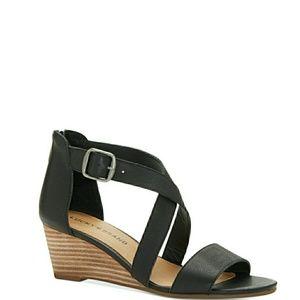 🆕️Lucky Brand Crisscross Leather Wedge Sandals